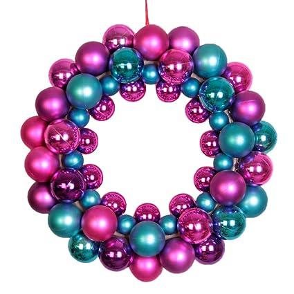 Christmas Ball Garlands.Amazon Com Morysong Christmas Wreaths With Shatterproof