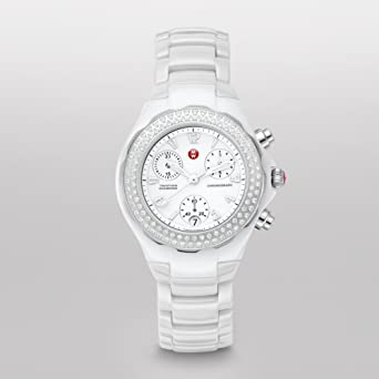 d929a80bc Image Unavailable. Image not available for. Color: Michele Women's  MWW12C000001 Tahitian Analog Display Analog Quartz Ceramic Watch