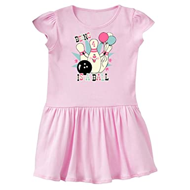 856f2ac32 inktastic - Pink Bowling Pin 4th Birthday Toddler Dress 2T Ballerina Pink  117ef