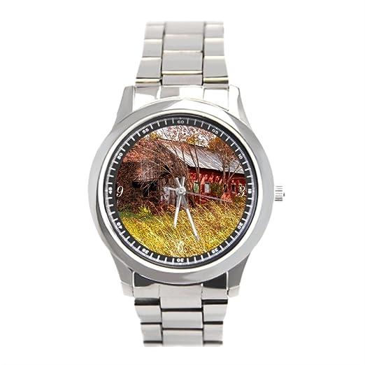 Ser un hombre la agricultura Buenos Viejos Días reloj: Amazon.es: Relojes