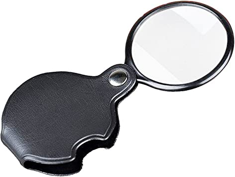 Folding Pocket Glass Lens Magnifier Keychain Magnifying Survival Outdoor 5X 3