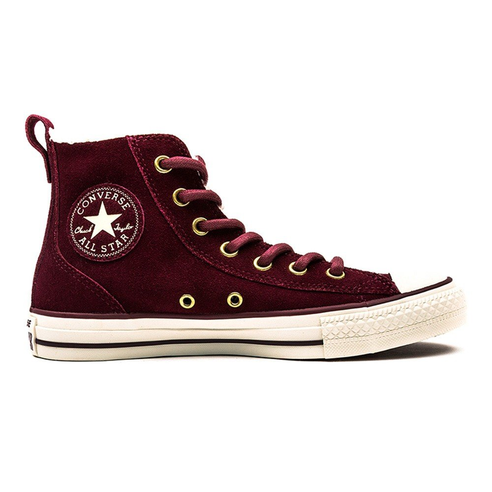 Converse Chucks Chuck All Star Taylor Chelsee Suede Shearling 549598C Innenfutter Deep Bordeaux Natural Egret