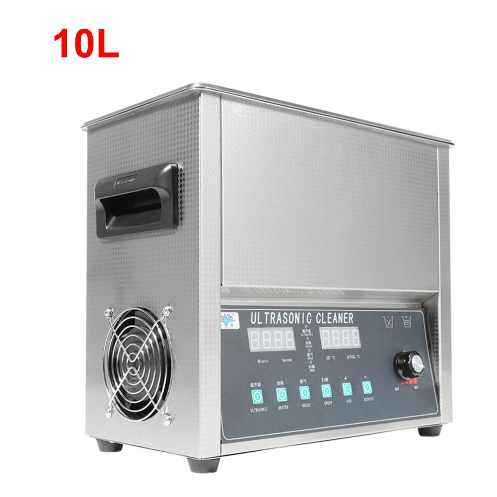 Jewelry Cleaner Machine,Professional Stainless Steel Watch and Eyeglass Cleaner Machine With Digital Timer for Home Use (10L 240W)