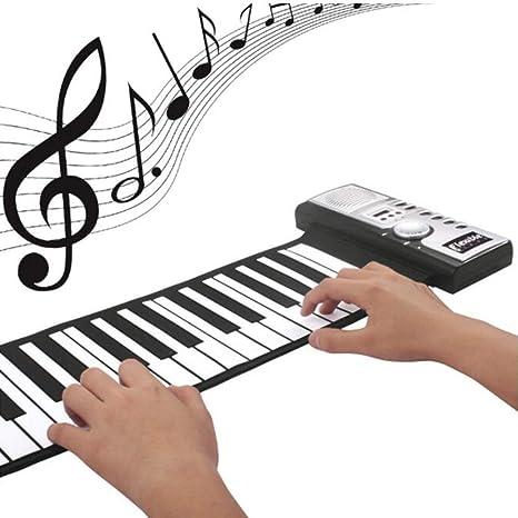 Teclado Enrollable para Piano, Flexible 61 Teclas Silicona ...