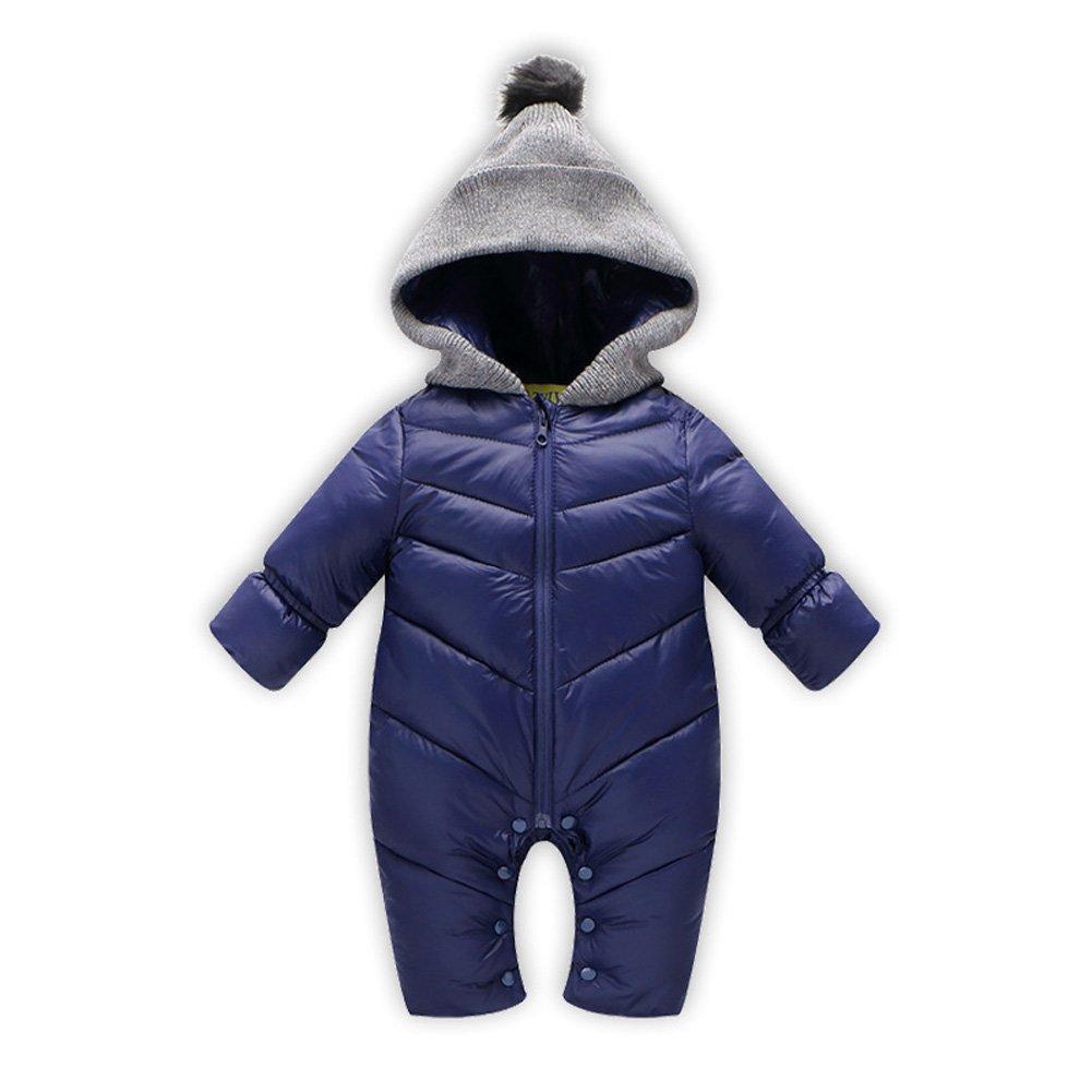 Meijunter Newborn Baby Girls Boys Down Jacket Hooded Warm Romper For 0-18 Month