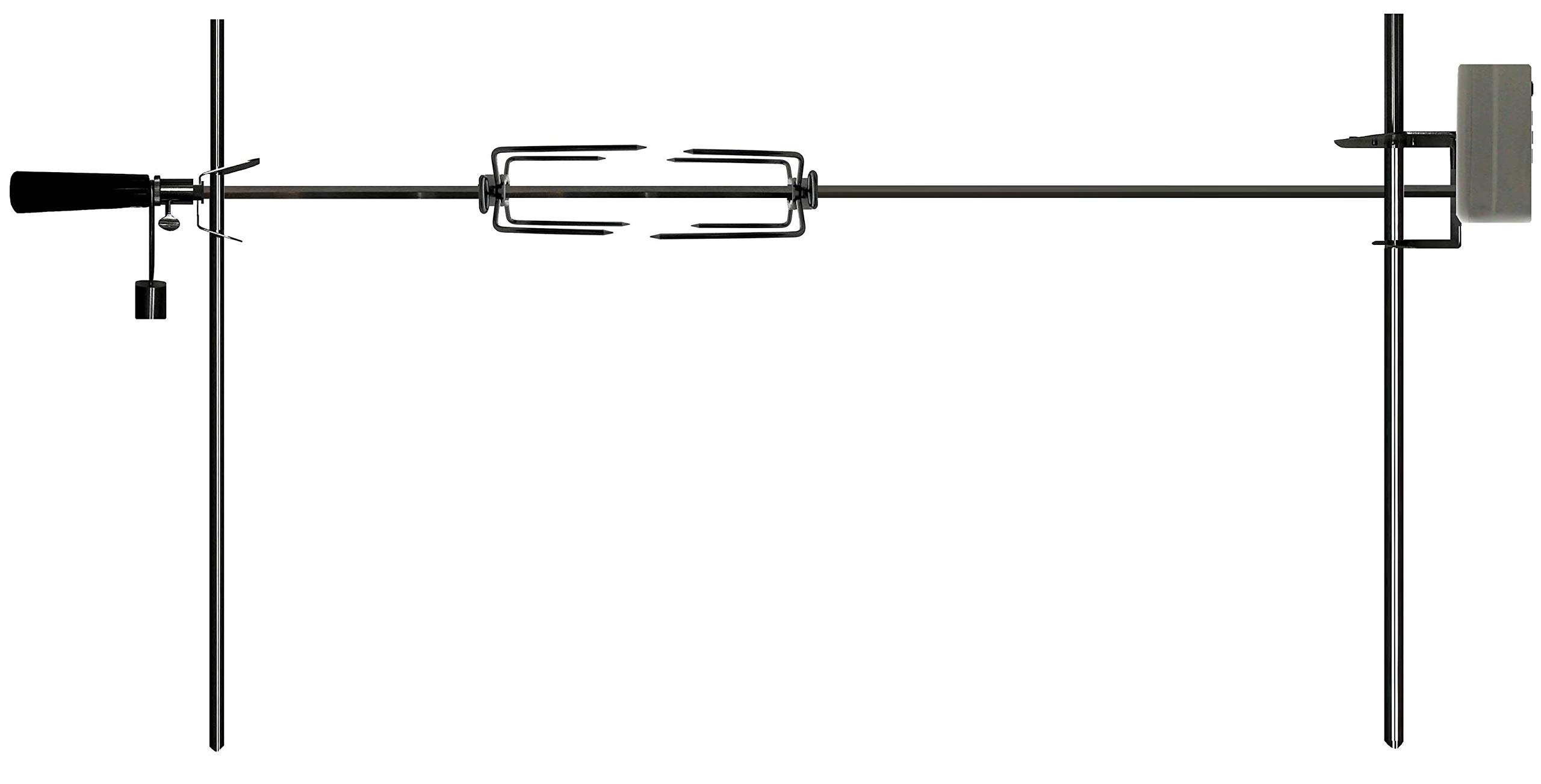 OneGrill Electric Dual Post Open Fire Rotisserie System- 53 Inch Chrome by OneGrill BBQ Products