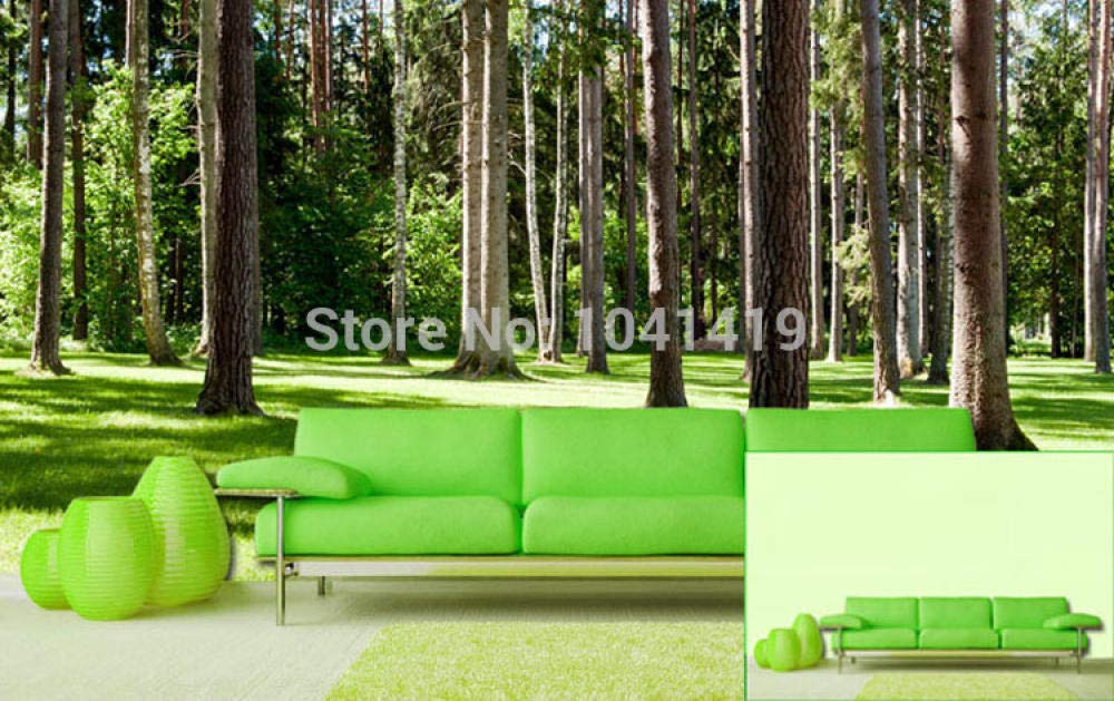 ZAMLE Mural Wallpaper 3D Nature Landscape Green Tree Forests ...