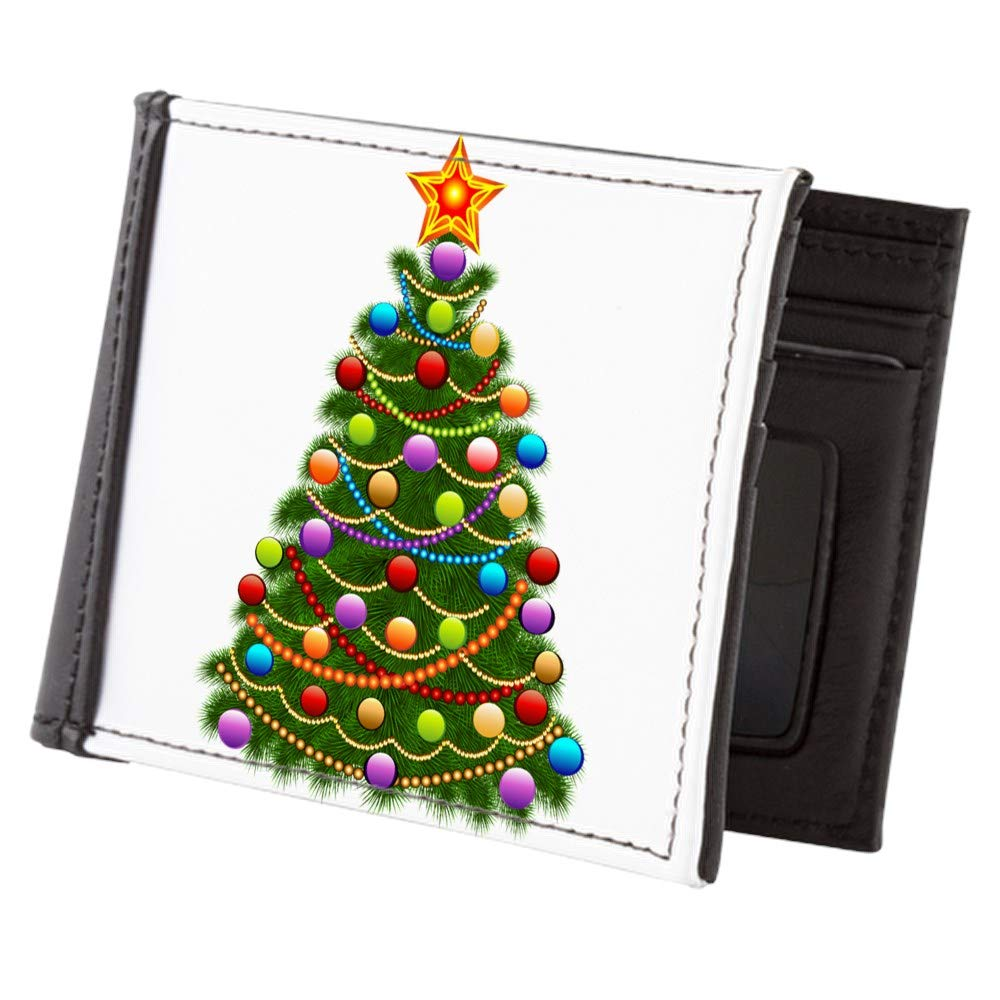 Royal Lion Mens Wallet Billfold Elegant Christmas Tree and Ornaments