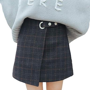 9d692802dcdae3 Mxssi Vintage Carreaux Impression Taille Haute Moulante Femmes ...