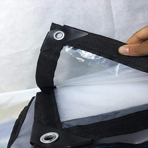 MMADD Klare PlanePlane Dicke Plastikfolie transparente Plane Regentuch Plane Au/ßenschirm Markisentuch,1mX1m