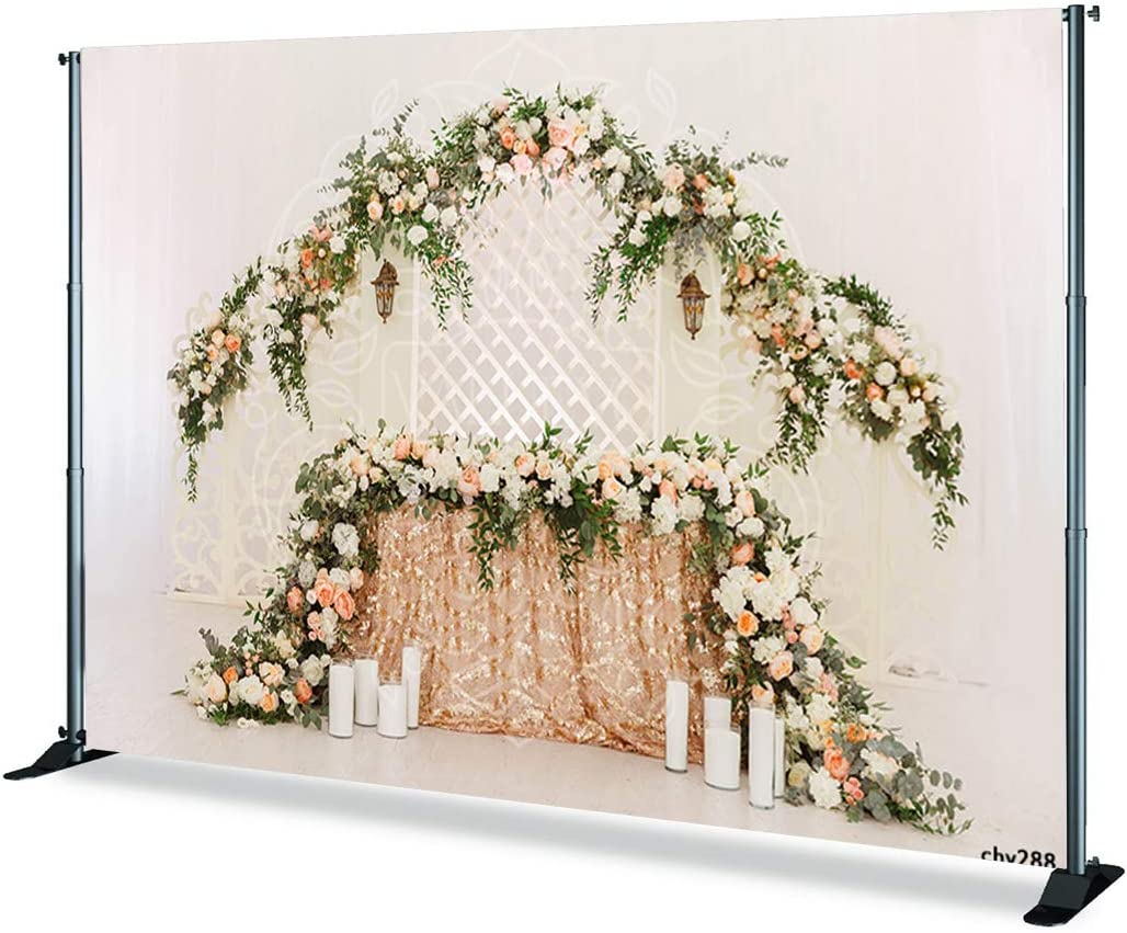 Levoo Flannel Flowers and Grass Wall Background Banner Photography Studio Boy Girl Birthday Family Party Holiday Celebration Romantic Wedding Photography Backdrop Home Decoration 10x8ft,chy281