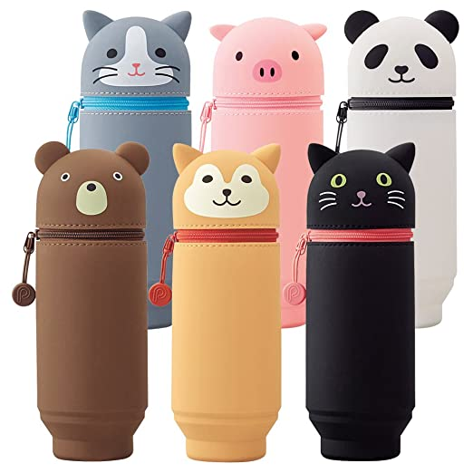 LIHIT LAB Silicon SMART FIT PuniLabo Stand Pen Case Pig A7712-5 Japan import