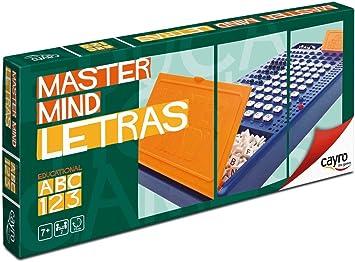 Cayro - Master Mind Letras - Juego de razonamiento y Estrategia - Juego de Mesa - Desarrollo de Habilidades cognitivas e inteligencias múltiples - Juego de Mesa (127): Amazon.es: Juguetes y juegos