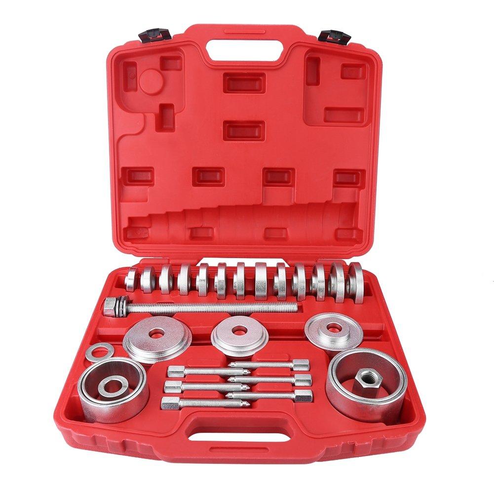 Estink 31Pcs Wheel Bearing Puller, Universal Front Wheel Drive Bearing Removal Installation Adapter Puller Tool Kit