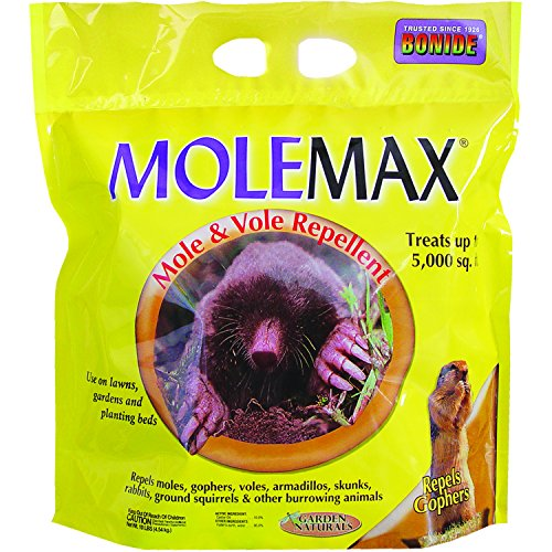 Bonide (BND692150) - Molemax Mole & Vole Burrowing Animal Repellent, Rodent Repellent Granules (10 lb.) (Essential Oils To Get Rid Of Moles)