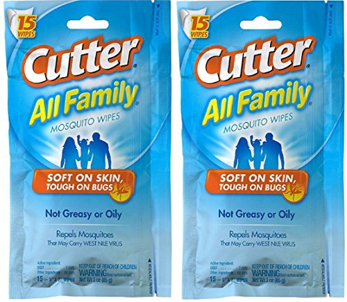 Cutter All Family Mosquito Wipes (HG-95838) (Pack of 2)