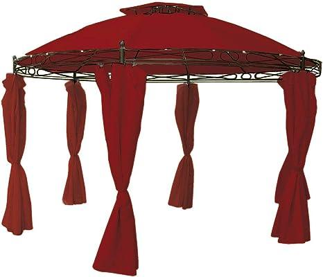 Repuesto para cenador (redondo ø3,5 m Beige, Rojo, Gris o Pardo impermeable techo, rojo burdeos