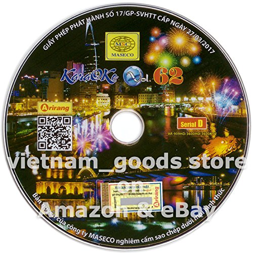 Arirang Karaoke Vision Midi Disc Vol 62 Serial D Vietnamese English For Arirang Player AR 909 HD / AR 3600 HD / AR 3600 KTV
