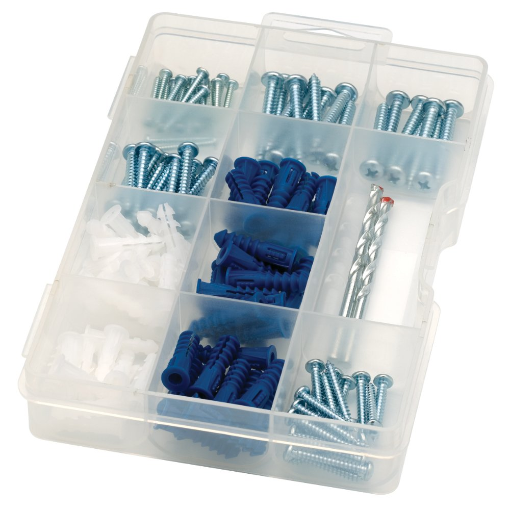 ARROW 160455 Drywall Drill Bit, Screw and Anchor Kit