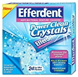 Efferdent Power Clean Crystals, 24 Count Pack of 5