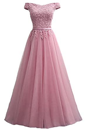 Callmelady Lace Evening Dresses for Women Formal Elegant Prom Gowns 2018 at Amazon Womens Clothing store: