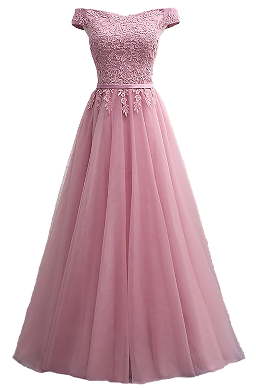 4e6e4062ae7e Callmelady Lace Evening Dresses for Women Formal Elegant Prom Gowns 2019 at  Amazon Women s Clothing store