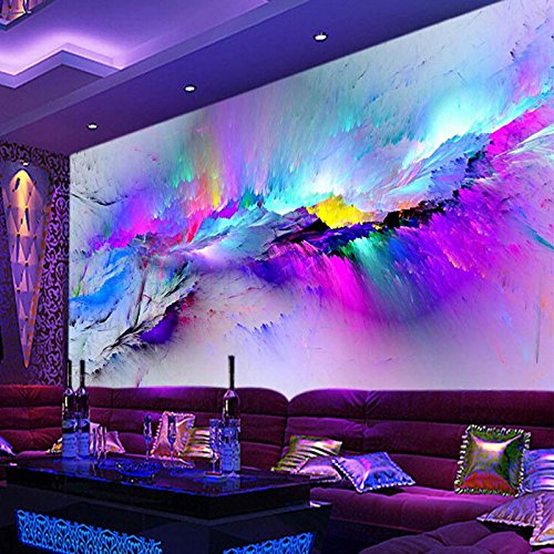 Sproud Custom Mural Wallpaper Modern Color Abstract Art Wall Painting Living Room Cafe Bar Ktv Mural Wallpaper Decor Papel De Parede 3D 430cmX300cm