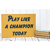 Play Like a Champion Wood Sign Notre Dame Football Sign Play Like a Champion Sign Notre Dame Decor Notre Dame Sign Notre Dame Man Cave