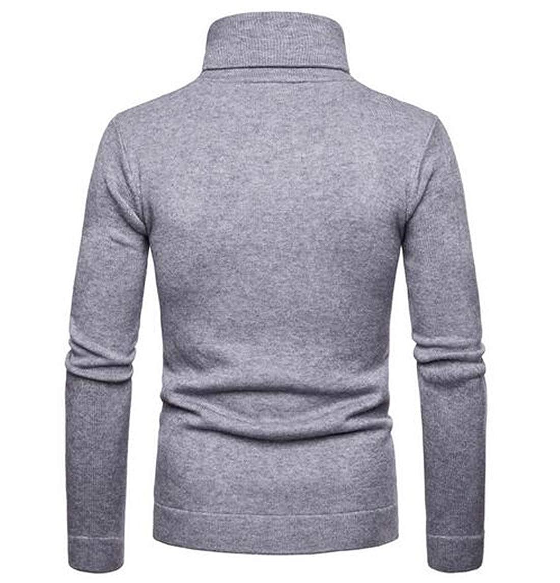 XiaoTianXinMen XTX Men Knit Shawl Collar Slim Solid Oblique Zipper Pullover Knitwear Sweater