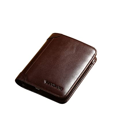 a87f2e3f31b97 Amazon.com  Men s Genuine Cowhide Leather Extra Capacity Bifold ...