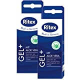 Ritex GEL+, Mit Aloe Vera, Gleitgel wasserbasiert, 100 ml (2 x 50 ml), Made in Germany