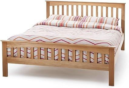 Genuine Real madera de roble cama marco. Para somier alta pie ...