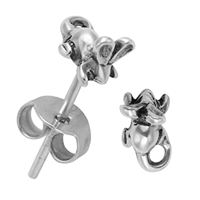 265f3b146 Image Unavailable. Image not available for. Color: Itsy Bitsy Sterling  Silver Mouse Earrings
