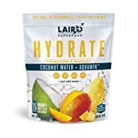 Laird Superfood Hydrate Drink Pineapple Mango - Electrolyte Powder Hydration Drink...