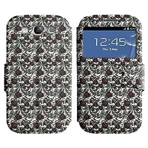 LEOCASE flor oscura Funda Carcasa Cuero Tapa Case Para Samsung Galaxy S3 I9300 No.1003372