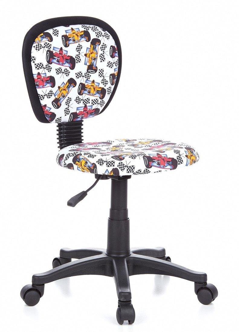 HJH Office 670167 Sedia da ufficio per bambini KIDDY TOP tessuto, regolabile in altezza, formula, ergonomica, imbottita, resistente poltrone