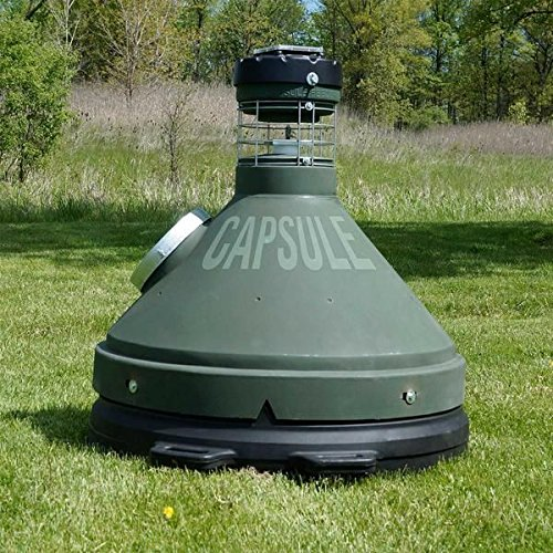 Capsule Feeders CAP-500 500 LB Hunting Game Feeder, Green