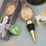 48 Gold Metal Leaf Design Bottle Stoppers