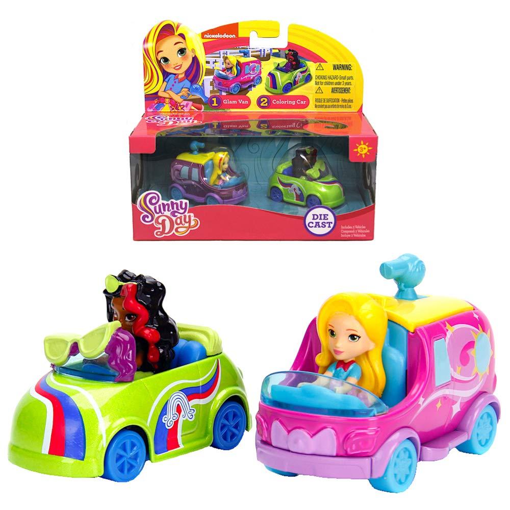 Sunny Day Glam Van & Coloring Car Car Pack Metals Diecast