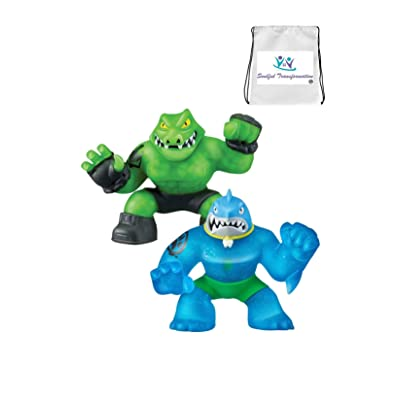 Thrash Versus Rock Jaw Heroes of Goo JIT Zu Action Figure Bonus (TNT Trinket Bag Loaded with Extra Toys) Boys Girls Playtime and Loads of Fun: Toys & Games