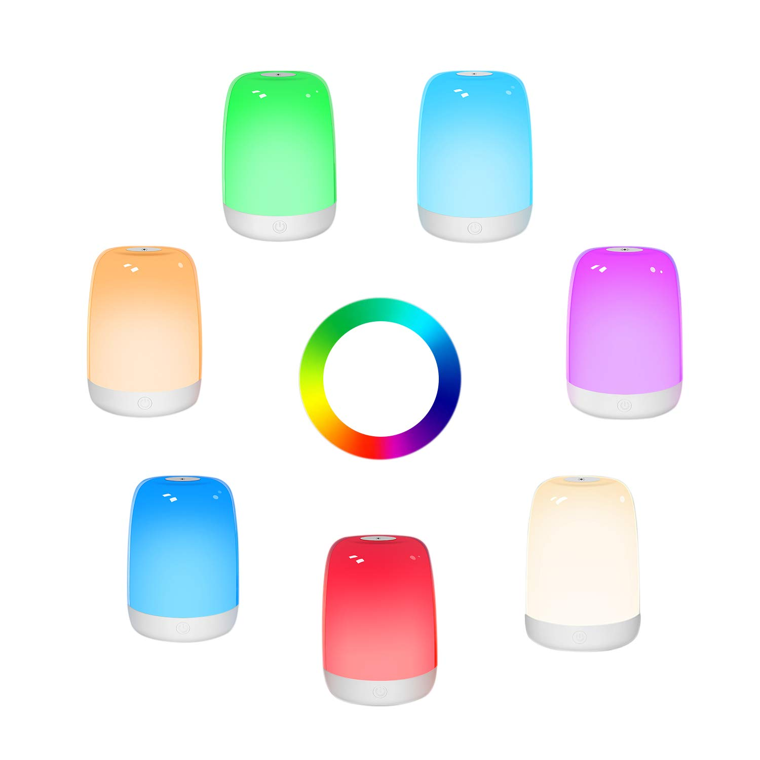 72 Hours Runtime for Bedrooms Living Rooms Breastfeeding Sleeping Teens Best Gift for Kids Dimmable Bedside Lamp Rechargeable Nursery Lamp Warm White RGB Color Changing Touch Night Light for Kids