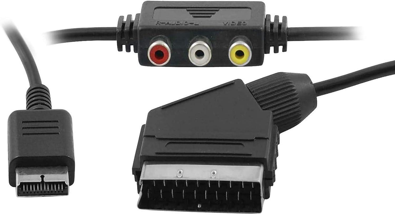 Eaxus®️ Playstation RGB Scart TV Cable con salida de audio: Amazon.es: Electrónica