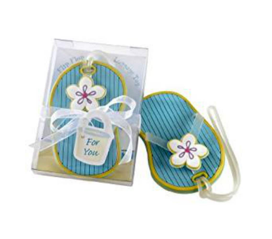 72pcs Flip-Flop Beach-Themed Luggage Tag Baby Shower Gifts & Wedding Favors by cute rabbit (Image #1)