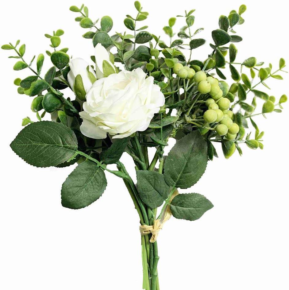 Amazon Com Kirifly Artificial Flowers Silk Roses Fake Plants