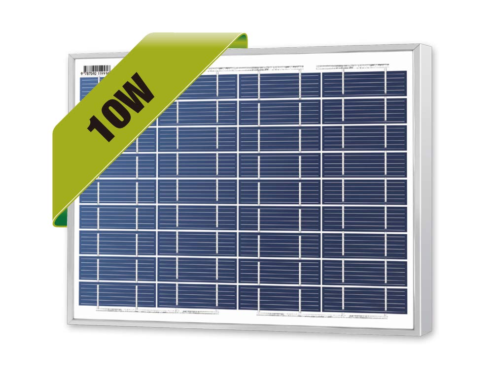 Newpowa 10 Watts 12 Volts Polycrystalline Solar Panel 10W 12V High Efficiency Module RV Marine Boat Off Grid by Newpowa