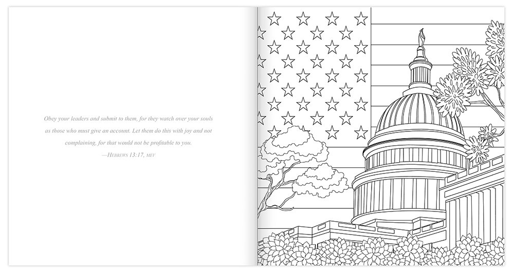 Amazon Com Faith And Freedom Adult Coloring Book Color Express Church