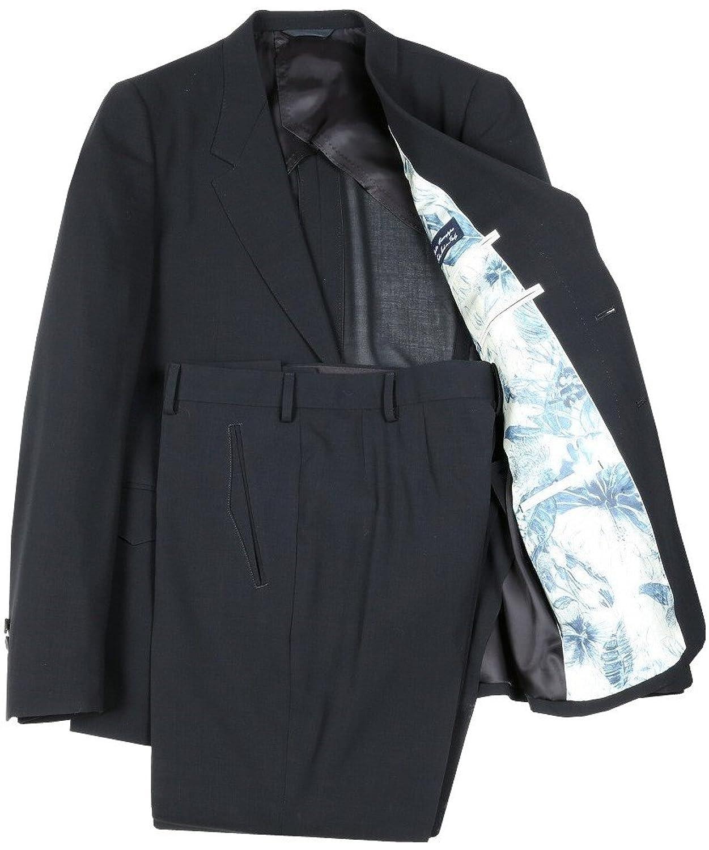 【Paul Smith COLLECTION】ポールスミス 日本製「Botto Giuseppe生地」シングル2Bスーツ 黒 B078X6LZWY L