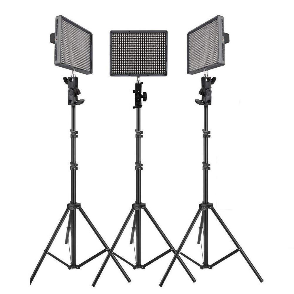 Aputure HR672KIT (HR672S + HR672W + HR672C) 672 LEDビデオライト パネル LED スタジオライティングキット 2.4G FSK リモートコントロール & バッテリーパック付属   B00TDP922U
