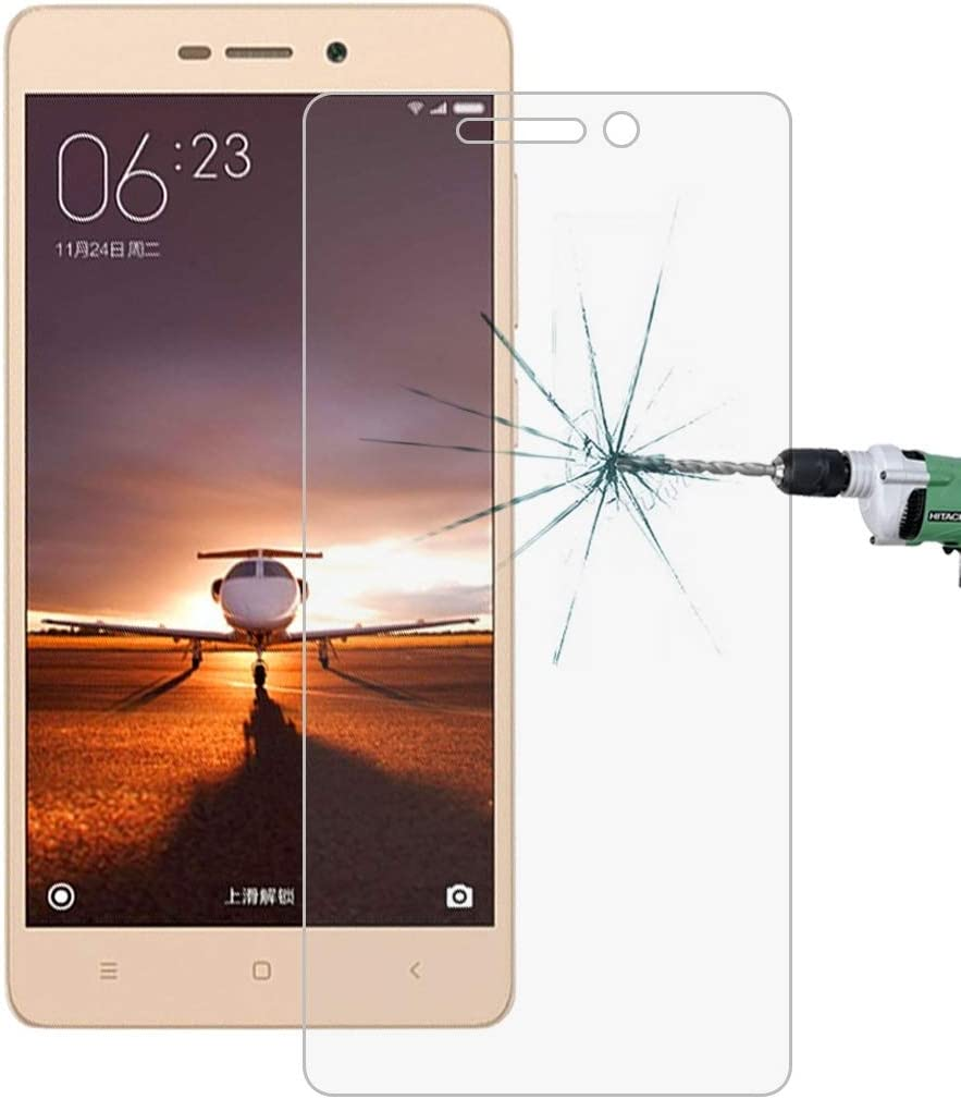 YINZHI Screen Protector Film 100 PCS for Xiaomi Redmi 3 /& 3S 0.26mm 9H Surface Hardness 2.5D Explosion-Proof Tempered Glass Screen Film Clear