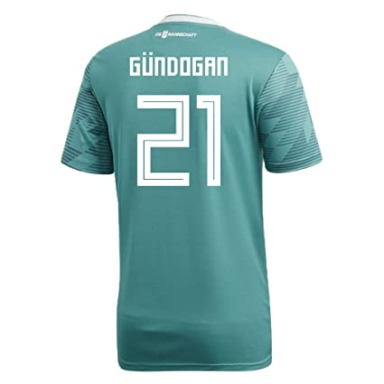 e8712401c34 adidas GUNDOGAN # 21 Germany Away Soccer Stadium Men's S/S Jersey World Cup  Russia